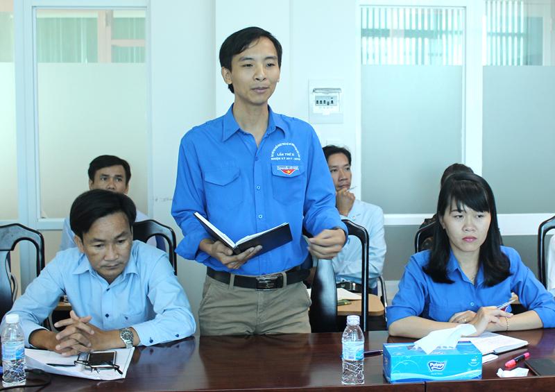 Đóng góp ý kiến của Trường THPT Phan Liêm (huyện Ba Tri). Ảnh: Thành Lập