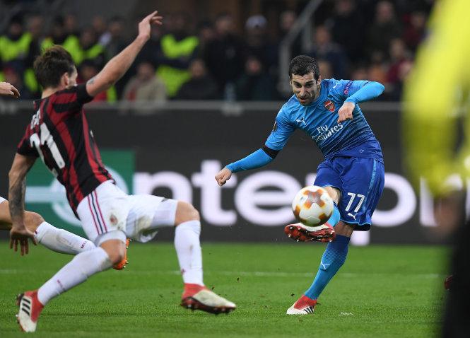 Mkhitaryan có trận cầu xuất sắc nhất kể từ khi chuyển sang khoác áo Arsenal. Ảnh: REUTERS
