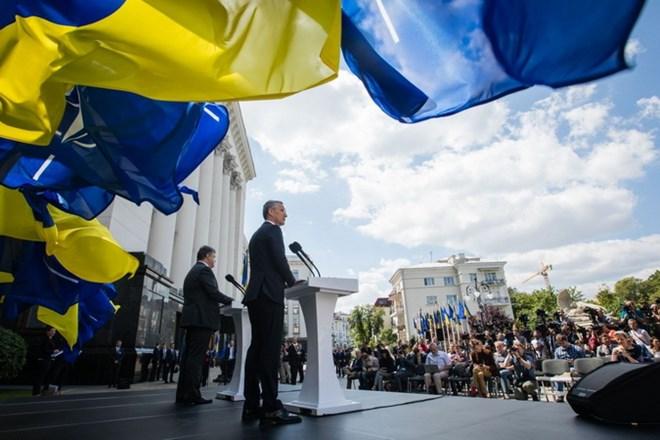 Tổng thư ký NATO Jens Stoltenberg thăm Ukraine ngày 10/7/2017. (Nguồn: president.gov.ua)