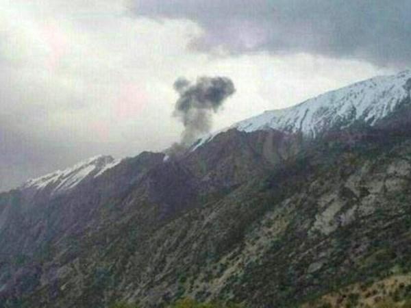 Hiện trường vụ tai nạn tại vùng núi Zagros. (Nguồn: dw.com)