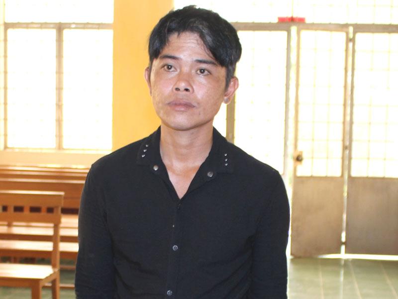 Bị cáo Lê Văn An tại phiên tòa hình sự sơ thẩm ngày 2-4-2018. Ảnh: H. Đức