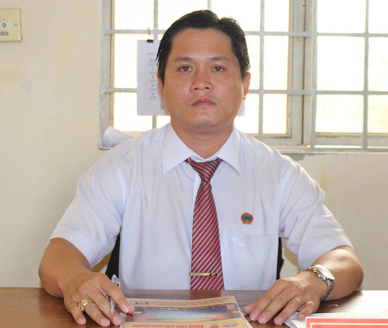 Thẩm phán Nguyễn Chí Đức. Ảnh: H.Đức