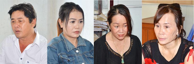 Từ trái sang: Nguyễn Văn Tấn, Nguyễn Thị Tuyết Hương, Trần Thị Hồng, Ngô Thị Thủy.