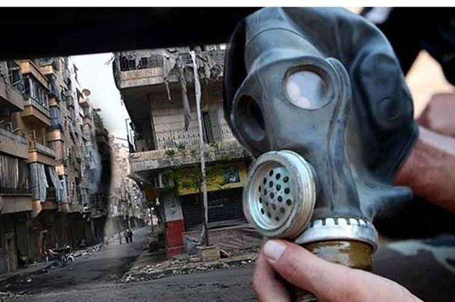 Mặt nạ được các chuyên gia sử dụng ở khu vực nghi bị tấn công vũ khí hóa học. (Nguồn: Prensa Latina)