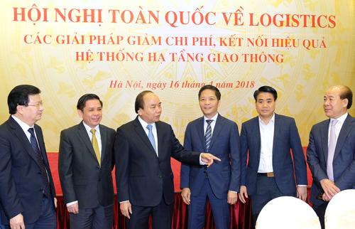 Thủ tướng Nguyễn Xuân Phúc dự Hội nghị về logistics- Ảnh: VGP/Quang Hiếu