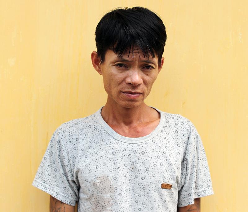 Bị can Phan Ngọc Huy tại nhà tạm giữ Công an TP. Bến Tre. Ảnh: H. Đức