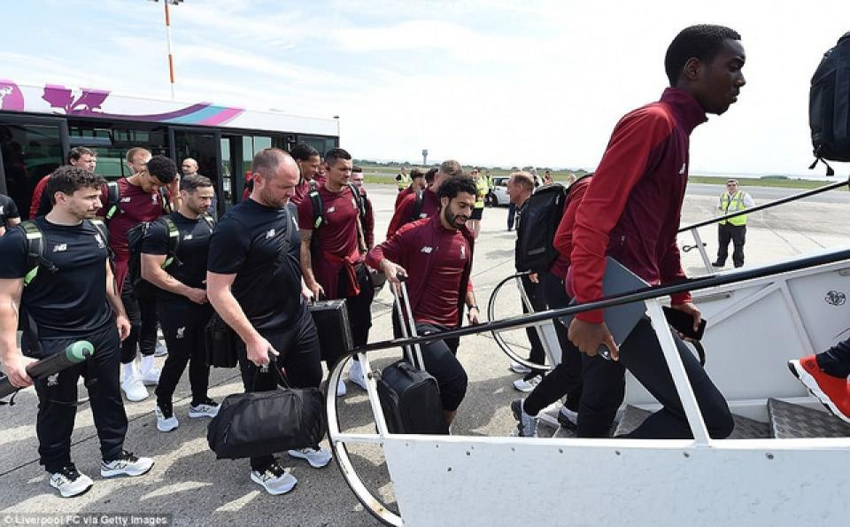 Liverpool hành quân sang Kiev chuẩn bị cho trận chung kết Champions League.