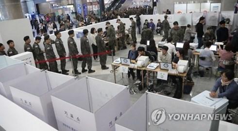 Một cuộc bầu cử tại Hàn Quốc. Ảnh: Yonhap