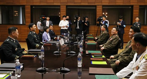 Đàm phán quân sự cấp cao Hàn - Triều. Ảnh: Yonhap