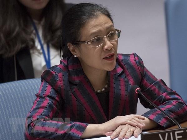 Đại sứ Nguyễn Phương Nga, Trưởng Phái đoàn đại diện thường trực Việt Nam tại Liên hợp quốc. Ảnh: Nguyễn Hữu Hoàng/TTXVN