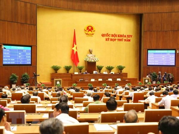Quốc hội biểu quyết thông qua Luật sửa đổi, bổ sung một số điều của Luật Thể dục, thể thao. Ảnh: Phương Hoa/TTXVN