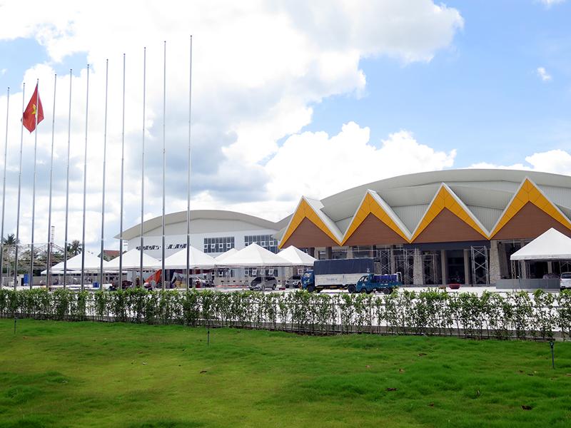 Một góc Trung tâm Thương mại triển lãm & Hội nghị Quốc tế - Việt Nam. Ảnh: T. Thảo