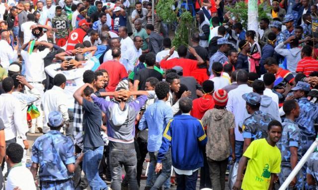 Hiện trường vụ nổ tại ở Thủ đô Addis Ababa, Ethiopia. Ảnh: Reuters