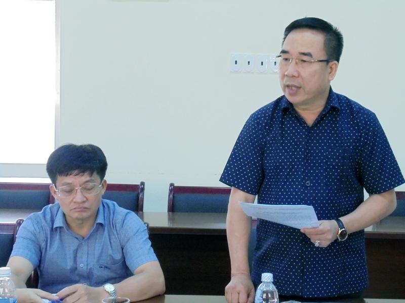 Đồng chí Nguyễn Văn Doanh phát biểu tại buổi làm việc. Ảnh: Văn Minh