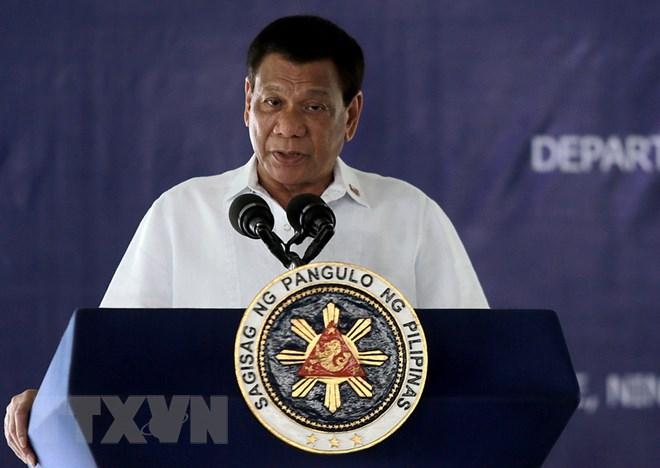 Tổng thống Philippines Rodrigo Duterte. (Nguồn: TTXVN phát)