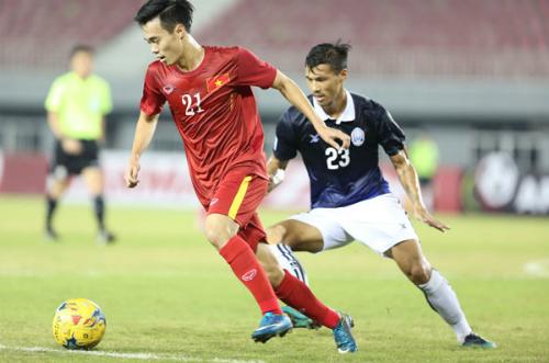 Trận Việt Nam thắng Campuchia 2-1 tại vòng bảng AFF Cup 2016 ở Nay Pyi Taw, Myanmar. Ảnh: Đức Đồng