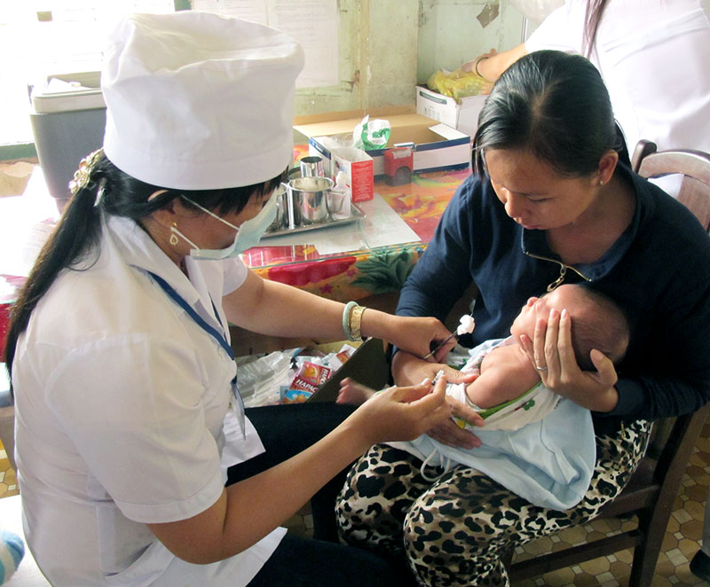 Đối tượng tiêm vắc-xin IPV là trẻ đủ 5 tháng tuổi.