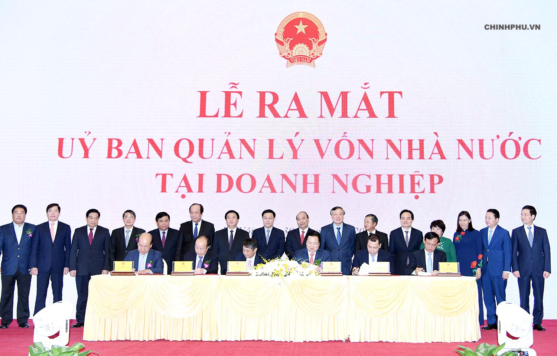 Lễ ra mắt Ủy ban Quản lý vốn nhà nước tại doanh nghiệp.