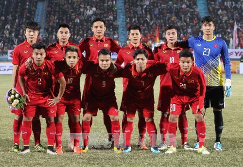 Đội tuyển U23 Việt Nam tham dự ASIAD 2018. Ảnh: Quốc Khánh/TTXVN
