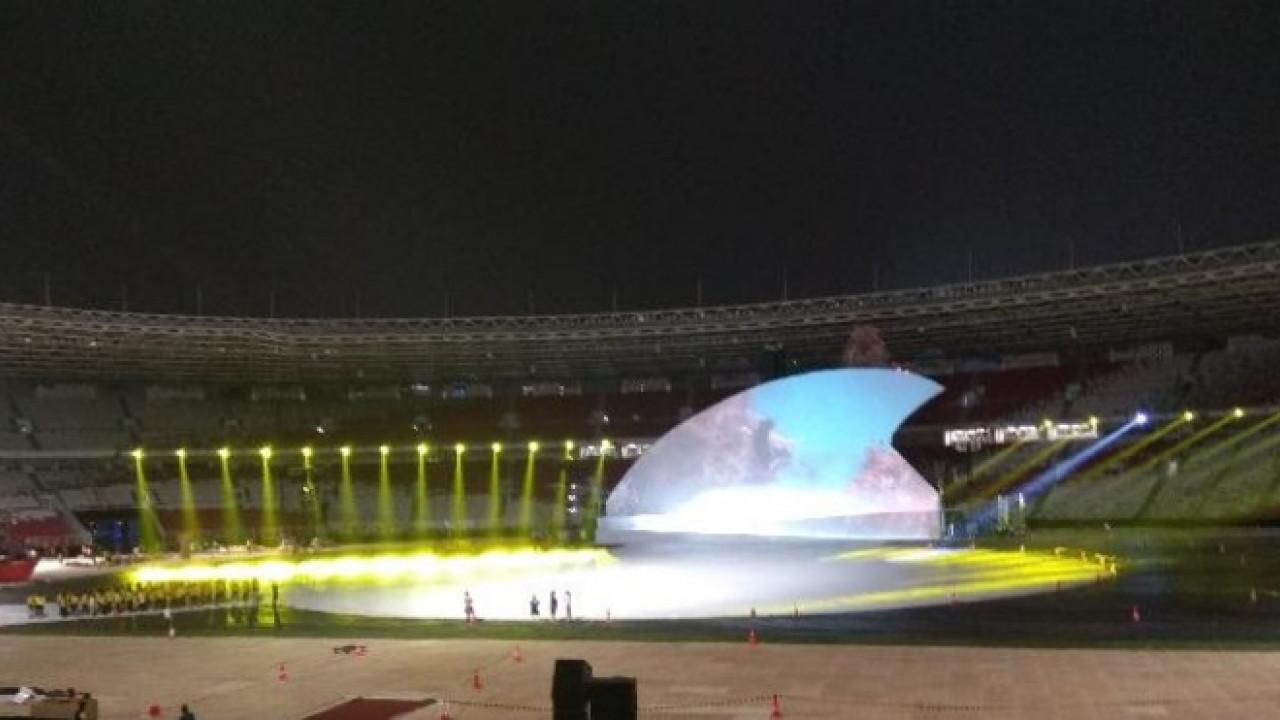 Tối 6-10-2018, lễ khai mạc Asian Para Games lần thứ 3 đã diễn ra tại Khu liên hợp thể thao Gelora Bung Karno ở thủ đô Jakarta, Indonesia. Ảnh: breakingnews.co.id