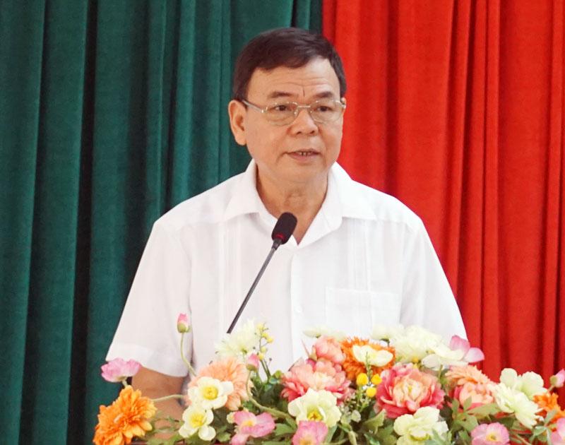 Bí thư Tỉnh ủy Võ Thành Hạo phát biểu kết luận hội nghị. Ảnh: Q. Hùng