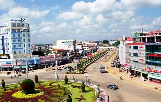 Một góc thị xã Đồng Xoài, tỉnh Bình Phước. Ảnh: laodong.vn