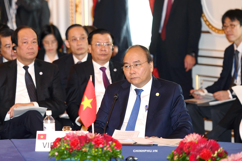 Thủ tướng Nguyễn Xuân Phúc tại Hội nghị Cấp cao hợp tác Mekong - Nhật Bản.