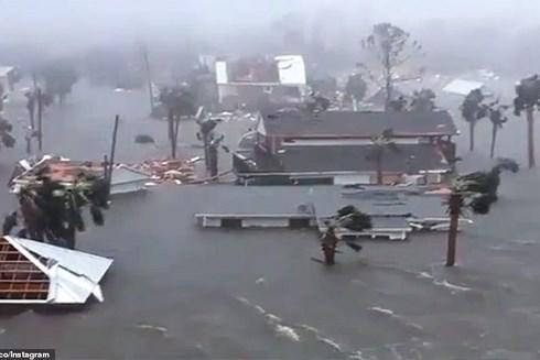 Hậu quả do bão Michael gây ra khi nó tấn công Florida Panhandle (Mỹ) vào hôm 10-10-2018. Ảnh: Daily mail