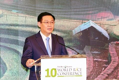 Phó thủ tướng Vương Đình Huệ phát biểu tại Hội nghị.