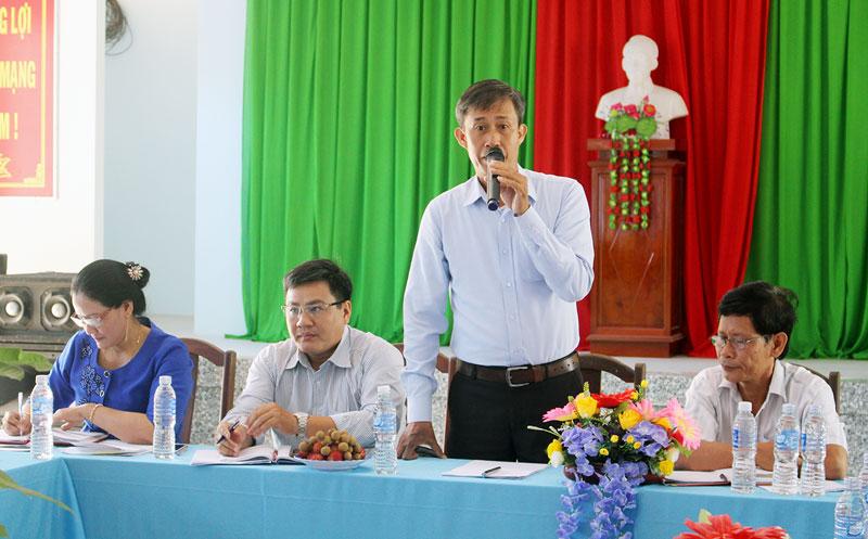 Trưởng Ban công tác phía Nam Võ Văn Thiện phát biểu tại buổi làm việc.