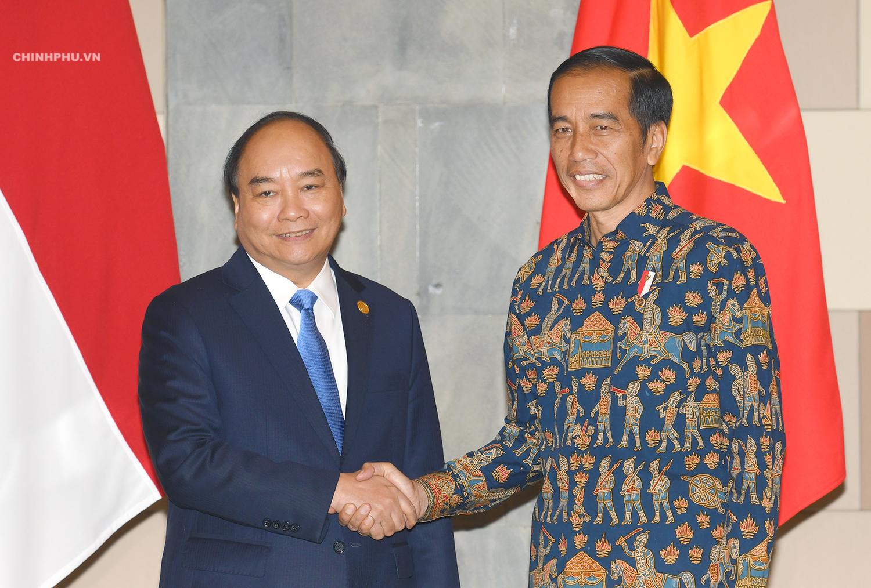 Thủ tướng Nguyễn Xuân Phúc và Tổng thống Indonesia Joko Widodo.