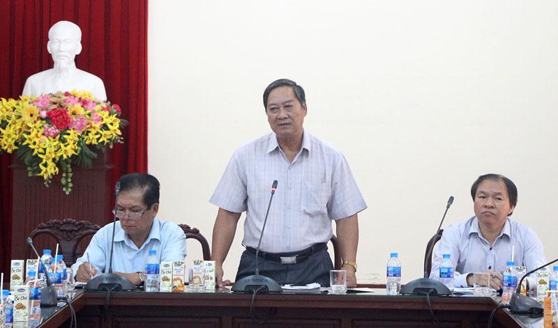 Phó chủ tịch UBND tỉnh Nguyễn Hữu Phước phát biểu kết luận.  Ảnh: Ngân Hà