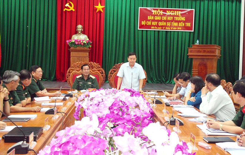 Bí thư Tỉnh ủy Võ Thành Hạo phát biểu chỉ đạo tại hội nghị.