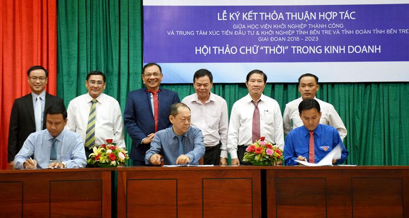 Lễ ký kết thỏa thuận hợp tác giữa các đơn vị.