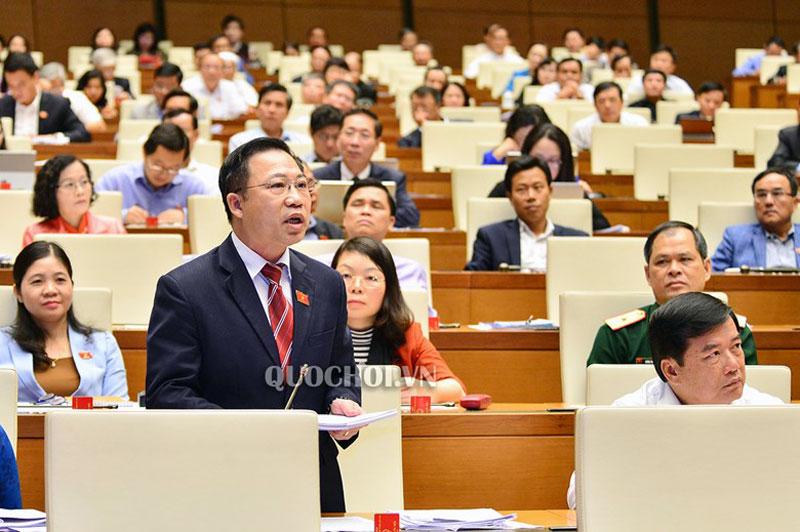 Đại biểu Lưu Bình Nhưỡng - đại biểu QH đơn vị tỉnh Bến Tre tham gia phiên thảo luận. Ảnh: quochoi.vn