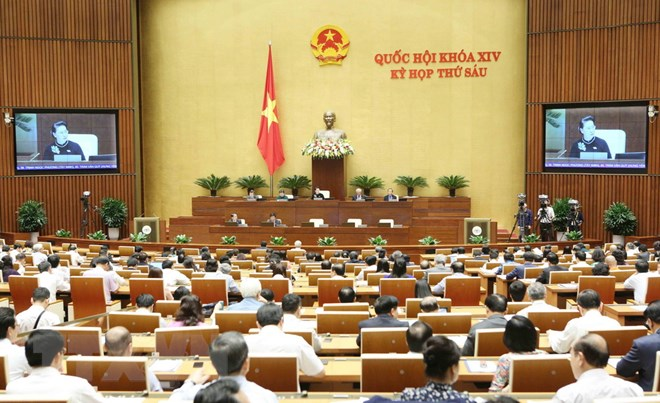 Quang cảnh phiên chất vấn và trả lời chất vấn (sáng 1-11-2018). Ảnh: Dương Giang/TTXVN