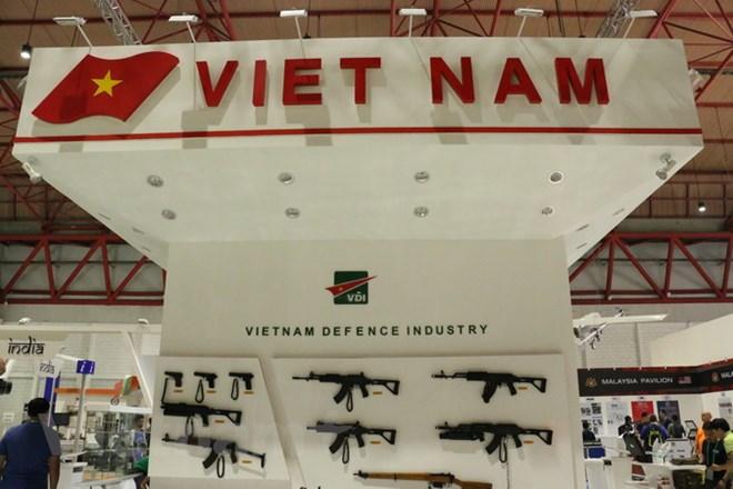 Gian triển lãm của Việt Nam đang được hoàn thiện. Ảnh: Trần Chiến/Vietnam+
