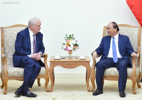 Thủ tướng Nguyễn Xuân Phúc tiếp GS. Thomas Vallely, Giám đốc chương trình Việt Nam tại Đại học Harvard.