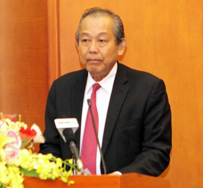 Phó thủ tướng Thường trực Chính phủ Trương Hòa Bình phát biểu chỉ đạo tại hội nghị.