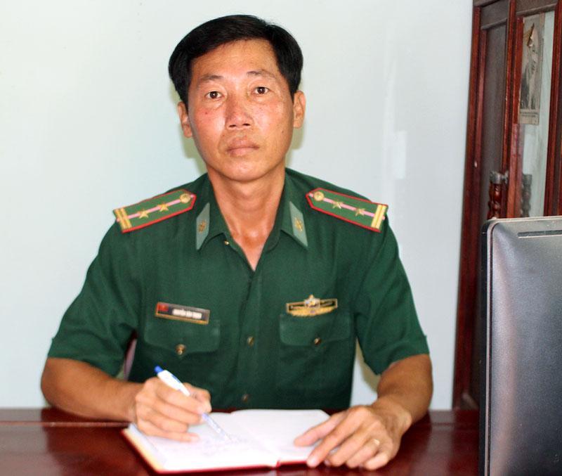 Trung tá Nguyễn Văn Thịnh. Ảnh: H. Đức