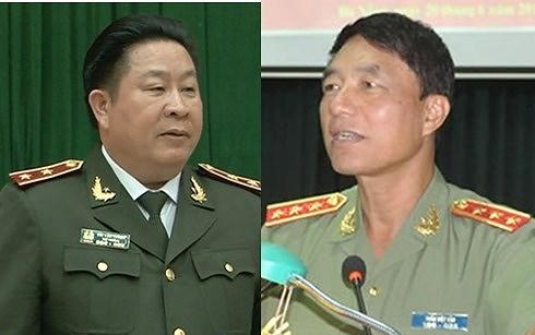 Ông Bùi Văn Thành (trái) và ông Trần Việt Tân khi còn công tác.