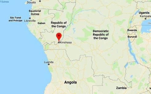 Khu vực chiếc máy bay Antonov 26 gặp nạn ở Congo.Ảnh: independent