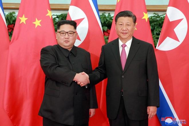 Nhà lãnh đạo Triều Tiên Kim Jong-un và Chủ tịch Trung Quốc Tập Cận Bình. Nguồn: nationalinterest.org