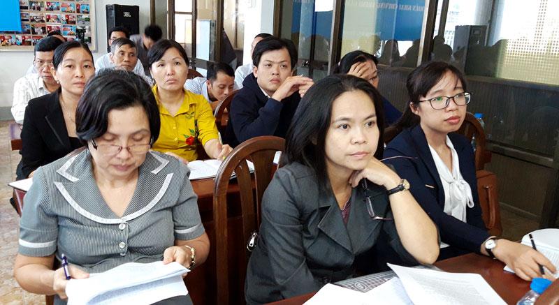 Các đại biểu tham dự hội nghị tại Bến Tre. Ảnh: Phan Hân