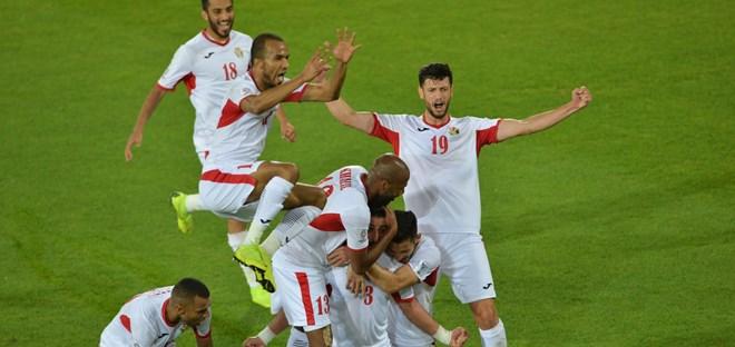 Cầu thủ Jordan ăn mừng chiến thắng. Ảnh: AFC
