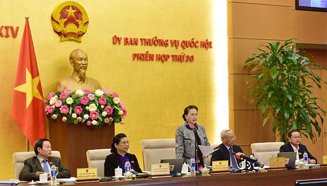 Chủ tịch Quốc hội Nguyễn Thị Kim Ngân phát biểu bế mạc phiên họp. Ảnh: daibieunhandan.vn