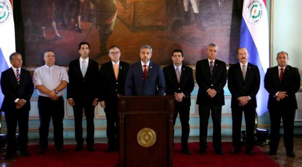 Tổng thống Paraguay Mario Abdo Benitez tuyên bố cắt quan hệ ngoại giao với Venezuela. Ảnh: elcomercio