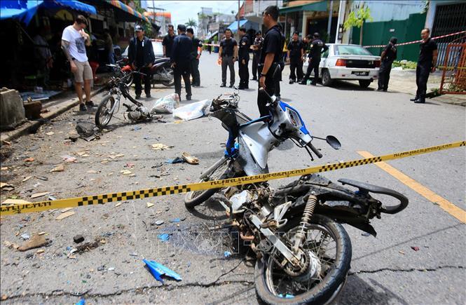 Hiện trường một vụ tấn công tại Thái Lan. Ảnh: AFP/TTXVN