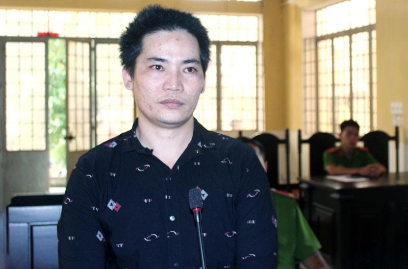 Bị cáo Nguyễn Văn Lượm tại phiên tòa hình sự sơ thẩm chiều 22-1-2019. Ảnh: H. Đức