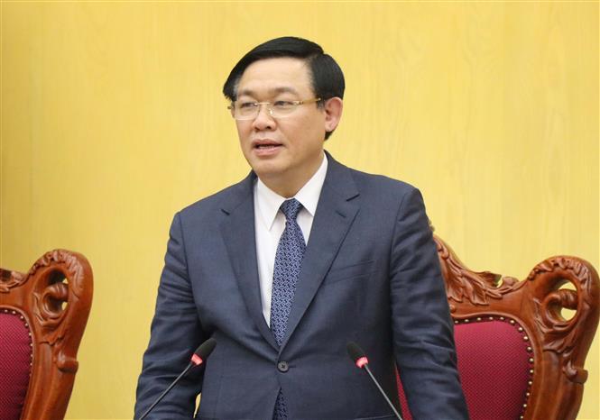 Ủy viên Bộ Chính trị, Phó thủ tướng Chính phủ Vương Đình Huệ. Ảnh: Diệp Trương - TTXVN